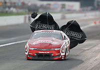 Aug 31, 2019; Clermont, IN, USA; NHRA pro stock driver Greg Anderson during qualifying for the US Nationals at Lucas Oil Raceway. Mandatory Credit: Mark J. Rebilas-USA TODAY Sports