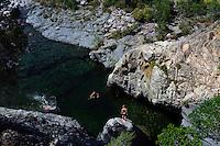 Badestellen im Tal des Fango, Korsika, Frankreich