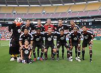 DC United team photo.  Seattle Sounders defeated DC United 1-0 at RFK Stadium, Thursday July 15, 2010.