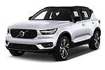 2019 Volvo XC40 R-Design 5 Door SUV Angular Front automotive stock photos of front three quarter view