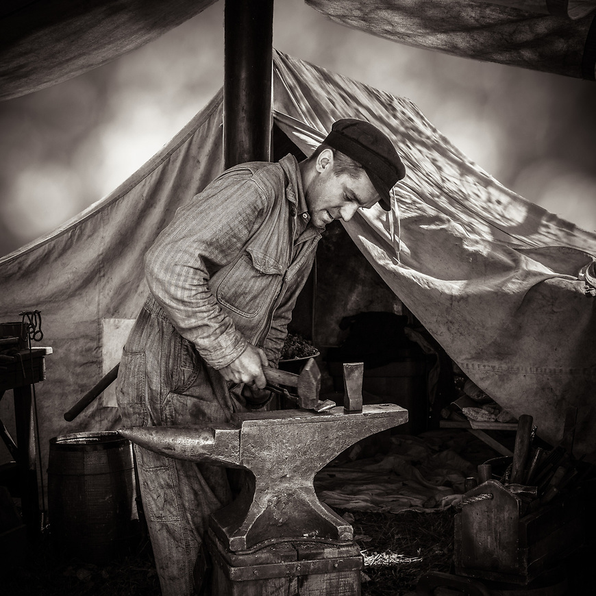 BLACKSMITH -- Rock River Thretheree, Edgerton, Wisconsin, USA #michaelknapstein #midwest #midwestmemoir #blackandwhite #B&W #monochrome #instblackandwhite #blackandwhiteart #flair_bw #blackandwhite_perfection #motherfstop #wisconsin #blackandwhiteisworththefight #bnw_captures #bwphotography #myfeatureshoot  #fineartphotography #americanmidwest #squaremag #lensculture<br /> #awardwinners #finalists #top200<br />  #CriticalMass #CriticalMassTop200 #photolucida #contemporaryphotography #emergingartist