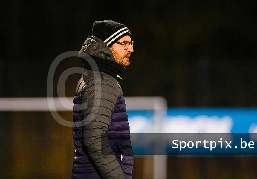 Head Coach Philippe Venturoso of Sporting Charleroi pictured during a female soccer game between Sporting Charleroi and SV Zulte-Waregem on the 12 th matchday of the 2020 - 2021 season of Belgian Scooore Womens Super League , friday 29 th of January 2021  in Marcinelle , Belgium . PHOTO SPORTPIX.BE | SPP | DAVID CATRY