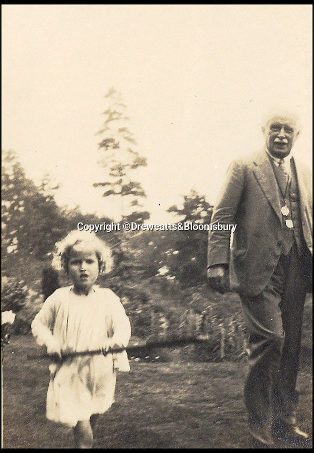BNPS.co.uk (01202 558833)<br /> Pic: Dreweatts&Bloomsbury/BNPS<br /> <br /> David Lloyd George with his secret lovechild Jennifer.<br /> <br /> Never-seen-before photographs showing the former Prime Minister David Lloyd George playing with his secret lovechild have been unearthed in a remarkable archive.<br /> <br /> The Liberal politician had an affair with his secretary Frances Stevenson, who he nicknamed 'Pussy', and the pair went on to have daughter Jennifer in 1929.<br /> <br /> But Lloyd George never publicly acknowledged Jennifer as his own and even her mother went through the ruse of adopting her to further distance the former Prime Minister from the girl.<br /> <br /> The photos and letters between the pair are now coming up for sale at auctioneers Dreweatts and Bloomsbury.