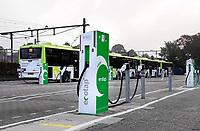 Nederland  Hoorn- September 2020 .  Oplaadpunt voor elektrische bussen.  Foto : ANP/ Hollandse Hoogte / Berlinda van Dam