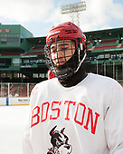 Chad Krys (BU - 5) - The Boston University Terriers practiced on the rink at Fenway Park on Friday, January 6, 2017.The Boston University Terriers practiced on the rink at Fenway Park on Friday, January 6, 2017.