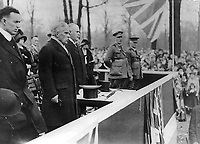 Toronto (ON) CANADA _ 	<br /> <br /> circa 1915 -<br /> Sir Robert Borden, Canadian Prime Minister, opens Victory Bond campaign in Toronto. Mayor Thomas Langton Church is at extreme left.