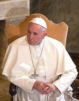 Papa Francesco visita la Chiesa Evangelica Luterana di Roma, 15 novembre 2015.<br /> Pope Francis visits the Lutheran Evangelical Church in Rome, 15 November 2015.<br /> UPDATE IMAGES PRESS/Riccardo De Luca<br /> <br /> STRICTLY ONLY FOR EDITORIAL USE