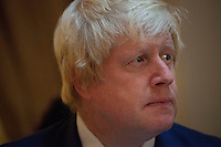 OCTOBER 15, 2015 -TOKYO, JAPAN:  London Mayor, Boris Johnson, at an event at the British Embassy in Tokyo, to encourage collaboration between London and Japan in financial technology.  (Photo / Ko Sasaki  )
