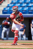 Washington Nationals catcher Jakson Reetz (14) during an Instructional League game against the Atlanta Braves on September 30, 2016 at Space Coast Stadium in Melbourne, Florida.  (Mike Janes/Four Seam Images)