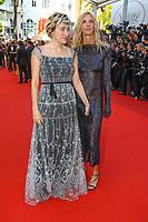 Valeria Bruni Tedeschi et Sandrine Kiberlain sur le tapis rouge pour la soirée dans le cadre de la journée anniversaire de la 70e édition du Festival du Film à Cannes, Palais des Festivals et des Congres, Cannes, Sud de la France, mardi 23 mai 2017.