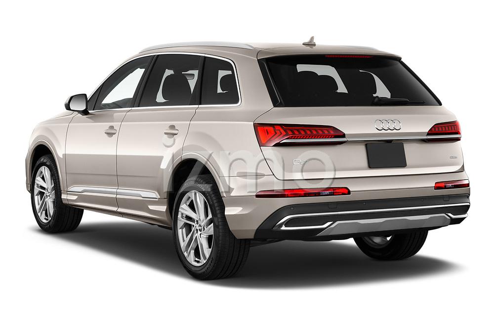Car pictures of rear three quarter view of 2020 Audi Q7 Premium 5 Door SUV Angular Rear