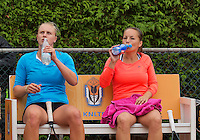 August 17, 2014, Netherlands, Raalte, TV Ramele, Tennis, National Championships, NRTK, Womans Final :  Nicole Thijssen/Mandy Wagemakers (L)(NED)<br /> Photo: Tennisimages/Henk Koster