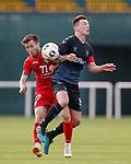 11.01.2020 Rangers v Lokomotiv Tashkent, Sevens Stadium, Dubai:<br /> Ryan Jack and Diyor Turapov