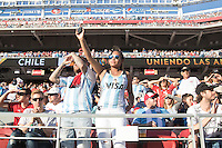 Santa Clara, CA - Monday June 6, 2016: Argentina fans stand before the game. Argentina played Chile in the group D match of the Copa América Centenario game at Levi's Stadium.
