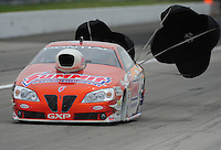 Sept. 5, 2011; Claremont, IN, USA: NHRA pro stock driver Jason Line during the US Nationals at Lucas Oil Raceway. Mandatory Credit: Mark J. Rebilas-