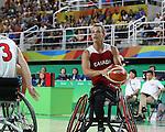 Nik Goncin, Rio 2016 - Wheelchair Basketball // Basketball en fauteuil roulant.<br /> The Canadian men's wheelchair basketball team plays against Japan in the preliminaries // L'équipe canadienne masculine de basketball en fauteuil roulant joue contre le Japon dans la ronde préliminaire. 11/09/2016.