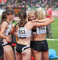 Leichtathletik, Deutsche Meisterschaft vom 25. bis 27.07.2014 im Donaustadion Ulm und auf dem Münsterplatz. Im Bild: