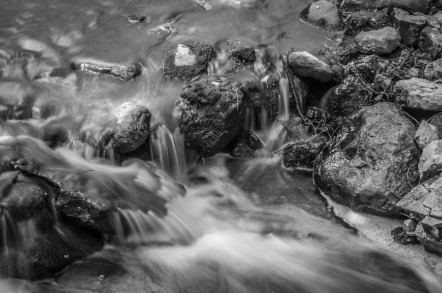 Small cascade in the Pheasant Branch Conservancy in Middleton, Wisconsin