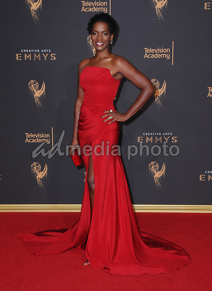 10 September  2017 - Los Angeles, California - Kelsey Scott. 2017 Creative Arts Emmys - Arrivals held at Microsoft Theatre L.A. Live in Los Angeles. Photo Credit: Birdie Thompson/AdMedia