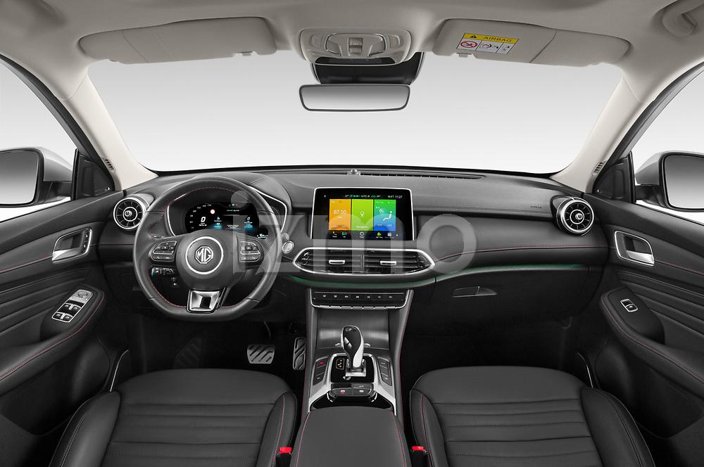 Stock photo of straight dashboard view of 2021 Mg EHS Luxury 5 Door SUV Dashboard