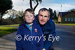 Tom and Tom Murphy jnr enjoying a stroll in the Killarney National Park on Saturday.