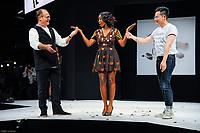 Lucie Vagenheim portant la robe de Cassandra Allaire et Jean Luc Decluzeau au Salon du Chocolat coiffure Franck Provost maquillage Make Up For Ever Paris 2017 - SALON DU CHOCOLAT 2017, 27/10/2017, PARIS, FRANCE