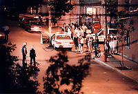 Montreal Police closed many streets in Centre Sud and made multiple arrest related to gang and drug dealing. Sept 1996<br /> <br /> PHOTO :  AGENCE QUEBEC PRESSE<br /> <br /> <br /> NOTE :  numerisation a refaire avec equipement moderne<br /> (a partir du negatif original) pour obtenir une meilleure qualite.