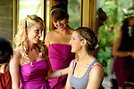 The bride and brides maids getting ready for a wedding at Total Tennis in Saugerties.