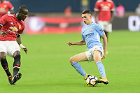 Houston, TX - Thursday July 20, 2017: Phil Foden during a match between Manchester United and Manchester City in the 2017 International Champions Cup at NRG Stadium.
