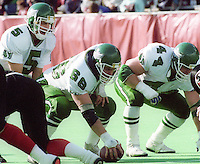 Kent Austin Mike Anderson Saskatchewan Roughriders. Photo F. Scott Grant