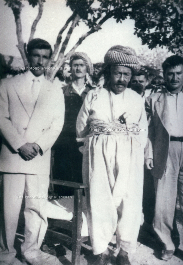 Iraq 1956 .One of the last picture of Sheikh Mahmud in Suleimania with left, Sheikh Ahmed Nakib    .Irak 1956  .Une des dernieres photos de Sheikh Mahmoud a Souleimania, a gauche, Sheikh Ahmed Nakib