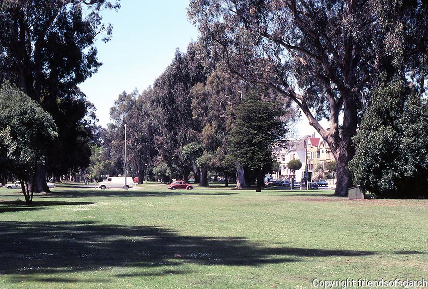 San Francisco: Park Panhandle--looking west.  Photo '84.