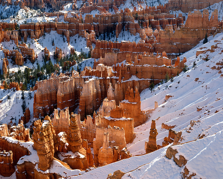 Morning light on the formations at Inspiration Point; Bryce Canyon National Park, UT