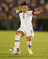 PASADENA, CALIFORNIA - August 03: Ali Krieger #11 during their international friendly and the USWNT Victory Tour match between Ireland and the United States at the Rose Bowl on August 03, 2019 in Pasadena, CA.