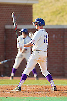 Spencer Angelis (11) of the High Point Panthers at bat against the Bowling Green Falcons at Willard Stadium on March 9, 2014 in High Point, North Carolina.  The Falcons defeated the Panthers 7-4.  (Brian Westerholt/Four Seam Images)