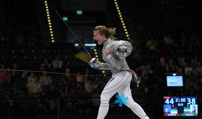 European Championships Fencing 2010 / Fecht Europameisterschaft 2010 in Leipzig - Competition Championat d'europe - im Bild: womens sabre team - Ukraine Team - the new european champion - Olga Kharlan (UKR)  . Foto: Norman Rembarz..Norman Rembarz , Autorennummer 41043728 , Augustenstr. 2, 04317 Leipzig, Tel.: 01794887569, Hypovereinsbank: BLZ: 86020086, KN: 357889472, St.Nr.: 231/261/06432 - Jegliche kommerzielle Nutzung ist honorar- und mehrwertsteuerpflichtig! Persönlichkeitsrechte sind zu wahren. Es wird keine Haftung übernommen bei Verletzung von Rechten Dritter. Autoren-Nennung gem. §13 UrhGes. wird verlangt. Weitergabe an Dritte nur nach  vorheriger Absprache..