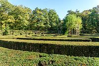France, Indre-et-Loire (37), Chenonceaux, château et jardins de Chenonceau, le labyrinthe