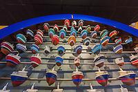 France, Bretagne, (29), Finistère,  Le Guilvinec: Le Port de pêche  -  Haliotika – La Cité de la Pêche - Maquettes de bateaux de pêche  représentant  la flotte du port
