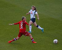 Jess Fishlock  of Reading and Angela Addison of Tottenham during Tottenham Hotspur Women vs Reading FC Women, Barclays FA Women's Super League Football at the Hive Stadium on 7th November 2020