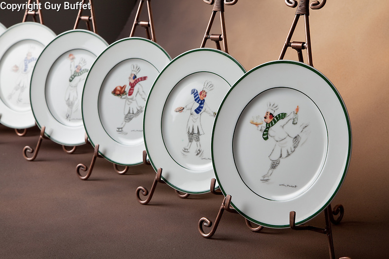 """Exclusively created by Guy Buffet for Williams-Sonoma<br /> """"Chefs on Ice""""<br /> <br /> No longer available."""