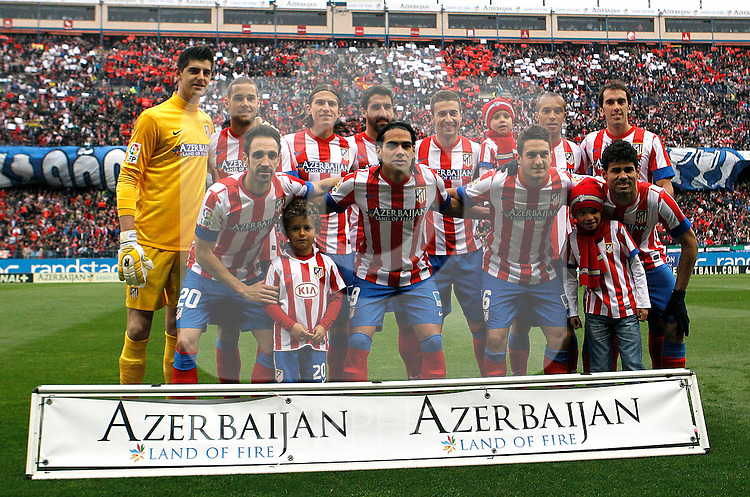 Atletico's team during La Liga BBVA match. April 27, 2013.(ALTERPHOTOS/Alconada)
