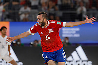 29th August 2021; Luzhniki Stadium, Moscow, Russia: FIFA World Cup Beach Football tournament; Russia versus Japan;  Artur Paporotnyi of Russia, celebrates his goal during the match between Russia and Japan