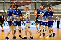 24-04-2021: Volleybal: Amysoft Lycurgus v Draisma Dynamo: Groningen Lycurgus viert een punt
