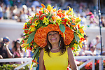 July 16, 2015: Hat contest at opening day at Del Mar Thoroughbred Club in Del Mar, California. Zoe Metz/ESW/CSM