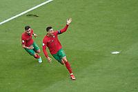 celebrate the goal, Torjubel zum 0:1 Cristiano Ronaldo (Portugal)<br /> - Muenchen 19.06.2021: Deutschland vs. Portugal, Allianz Arena Muenchen, Euro2020, emonline, emspor, <br /> <br /> Foto: Marc Schueler/Sportpics.de<br /> Nur für journalistische Zwecke. Only for editorial use. (DFL/DFB REGULATIONS PROHIBIT ANY USE OF PHOTOGRAPHS as IMAGE SEQUENCES and/or QUASI-VIDEO)