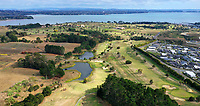 "Empty greens at Formosa. Golf during Level 3 Covid 19 isolation regulations. Players playing as part of their ""bubble"" or solo. Whitford park and Formosa Golf Courses. Thursday 30 April 2020. Photo: Simon Watts/www.bwmedia.co.nz"