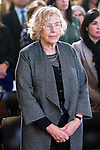 The Mayor of Madrid, Manuela Carmena during the minute's silence in remembrance for the victims of the terrorist attack in Paris. in Madrid, November 16, 2015.<br /> (ALTERPHOTOS/BorjaB.Hojas)