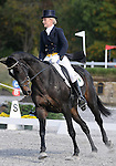 17 October 2008:  Rider Sara Dierks and Somerset II sit in 13th-place after the dressage section of the Fair Hill International CCI*** Championship at Fair Hill Equestrian Center in Fair Hill, Maryland.  Dressage is the first stage of the three-day event.