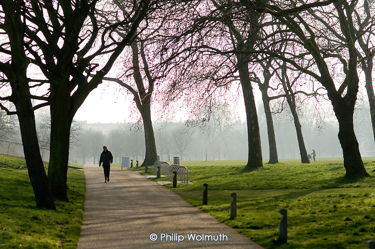 Walking in Regents Park, London