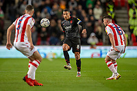 1st October 2021;  Bet365 Stadium, Stoke, Staffordshire, England; EFL Championship football, Stoke City versus West Bromwich Albion; Jake Livermore of West Bromwich Albion passes the ball
